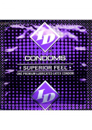 ID Superior Feel Lubricated Condoms 84 Piece Refill Sleeves