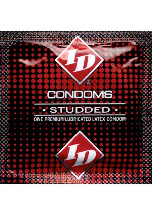 ID Studded Lubricated Condoms 84 Piece Refill Sleeves