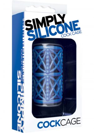 Simply Silicone Textured Cock Cage Midnight Blue