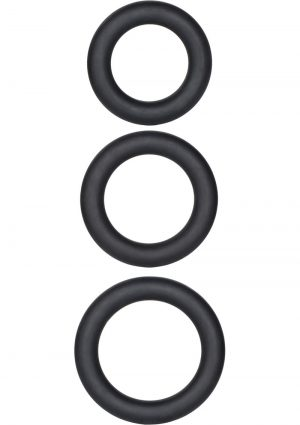 Dr.Kaplan Silicone Support Rings Black 3 Sizes Per Pack