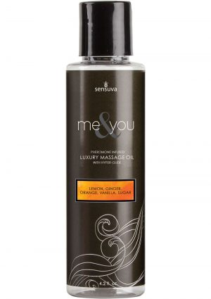 Me And You Pheromone Infused Luxury Massage Oil Lemon Ginger Orange Vanilla Sugar 4.2 Ounce