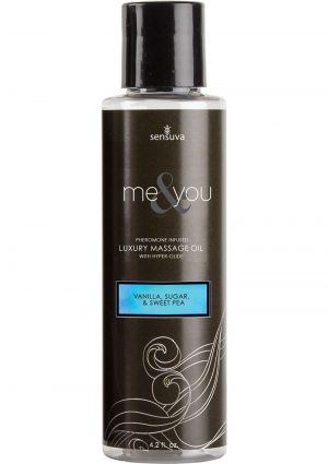 Me And You Pheromone Infused Luxury Massage Oil Vanilla Sugar Sweet Pea 4.2 Ounce