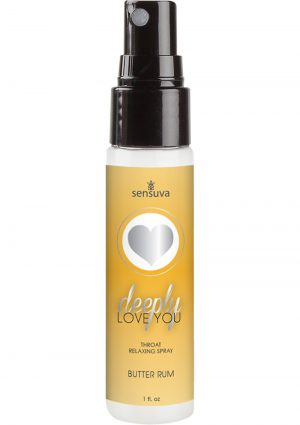 Deeply Love You Throat Relaxing Spray Butter Rum 1 Ounce Spray