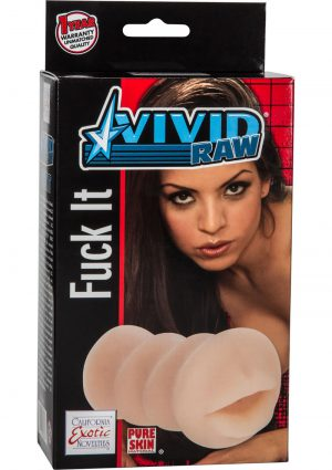 Vivid Raw Fuck It Mouth Stroker Ivory 5.25 Inch