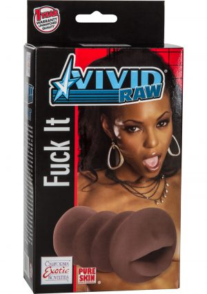 Vivid Raw Fuck It Mouth Stroker Black 5.25 Inch