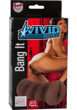 Vivid Raw Bang It Ass Stroker Black 5.25 Inch