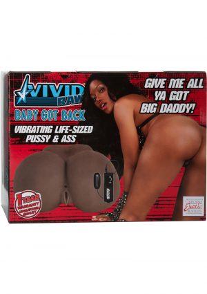 Vivid Raw Baby Got Back Vibrating Life Sized Pussy and Ass Masturbator Black