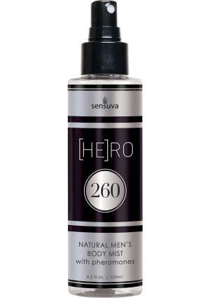 Hero 260 Natural Men`s Body Mist With Pheromones 4.2 Ounce Spray