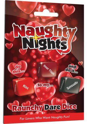 Naughty Nights Raunchy Dare Dice Game