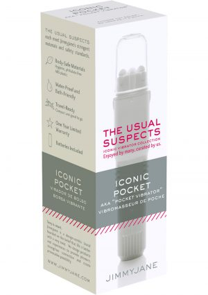JimmyJane The Usual Suspects Iconic Pocket Vibrator Waterproof White