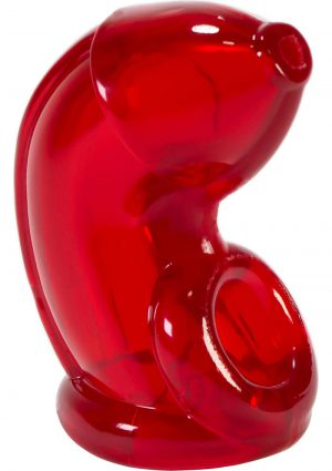 Atomic Jock Cock Lock Cock Cage Clear Red