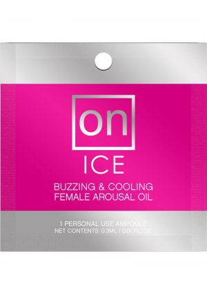 On Ice Buzzing and Cooling Female Arousal Oil .01 Ounce 24 Ampoule Refills