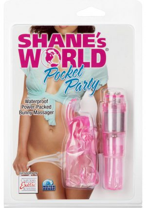 Shanes World Pocket Party Bunny Massager Waterproof Pink 3.75 Inch