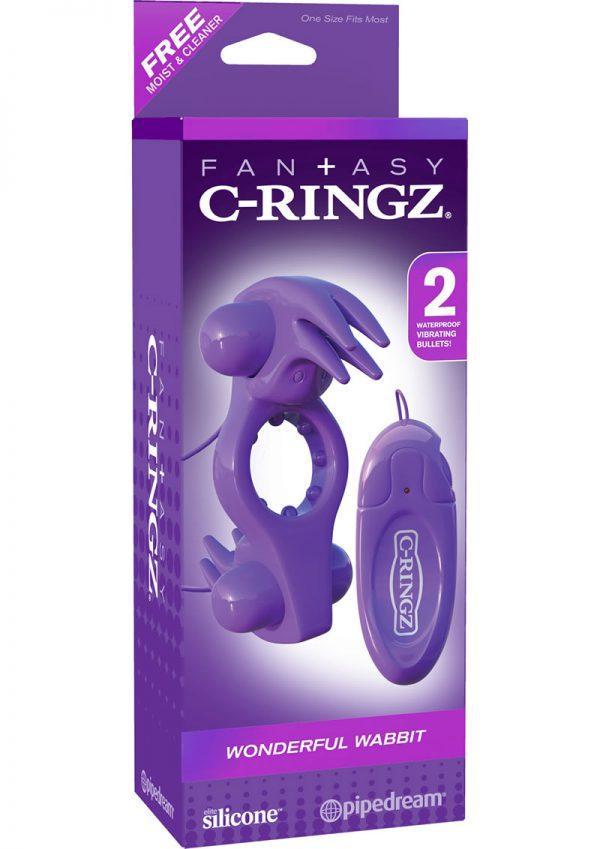 Fantasy C Ringz Wonderful Wabbit Silicone Cockring Waterproof Purple