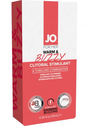 Jo For Her Warm and Buzzy Clitoral Cream 10ml