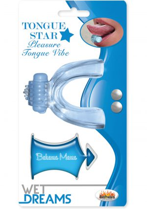 Wet Dreams Tongue Star Pleasure Tongue Vibe With Flavored Lubricant 10 Milliliters