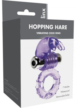 Linx Hopping Hare Vibrating Cock Ring Waterproof Purple
