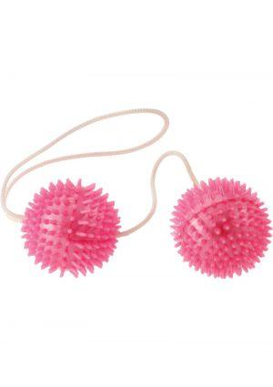 Minx Vibratone Textured Weighted Love Balls Pink