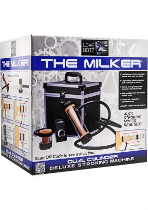 Love Botz The Milker Dual Cylinder Deluxe Stroking Machine