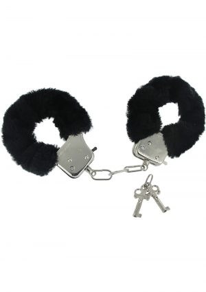 Frisky Fur Handcuffs Caught In Candy Black