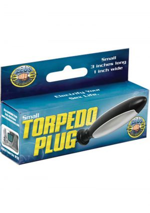 Zeus Torpedo Anal Vaginal Plug Black 3 Inch