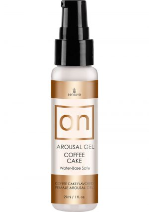 On Arousal Gel Water-Base Coffee Cake Flavored 1 Ounce