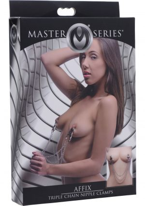 Master Series Affix Triple Chain Metal Nipple Clamps