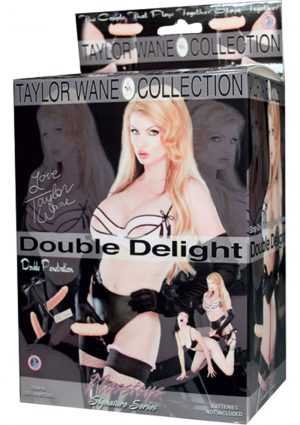 Taylor Wane Double Delight Strap On With Vibrating Dong