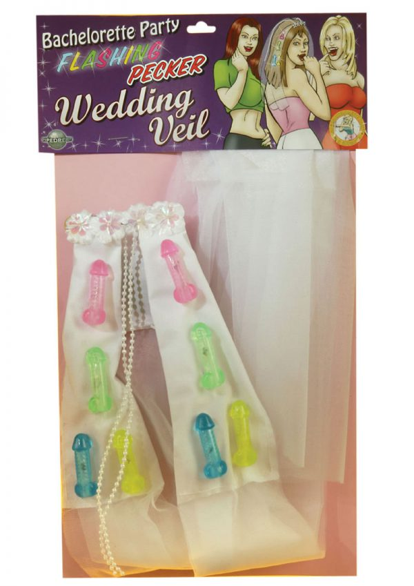 Bachelorette Party Favors Flashing Pecker Wedding Veil
