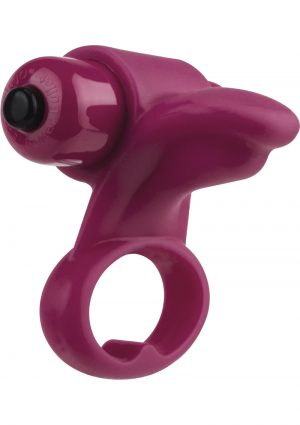 Screaming O You Turn 2 Finger Vibe Silicone Ring Waterproof Merlot