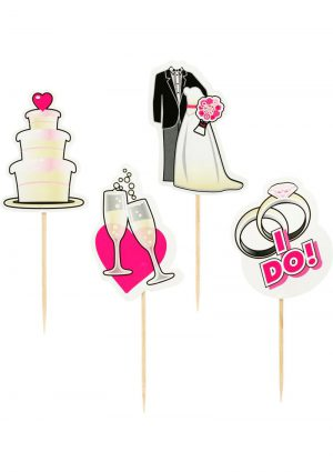 Party Picks Bridal Party Toothpick Toppers 24 Each Per Pack
