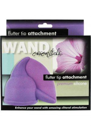 Wand Essentials Flutter Tip Silicone Wand Attachment Purple