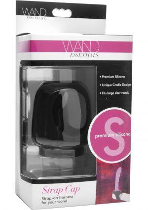 Wand Essentials Silicone Strap Cap Wand Attachment Black
