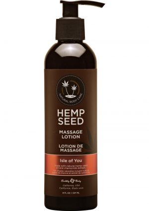 Hemp Seed Massage Lotion 100% Vegan Isle For You 8 Ounce