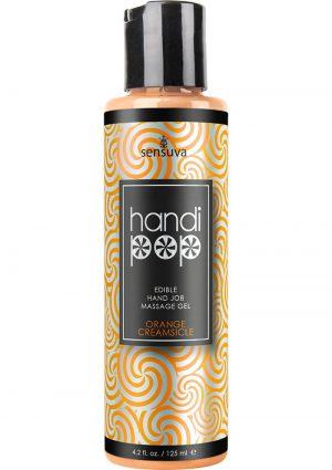 Handi Pop Edible Hand Job Massage Gel Orange Creamsicle 4.2 Fl Oz
