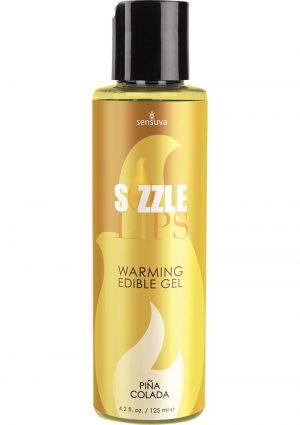 Sizzle Lips Warming Edible Gel Pina Colada 4.2 Ounce
