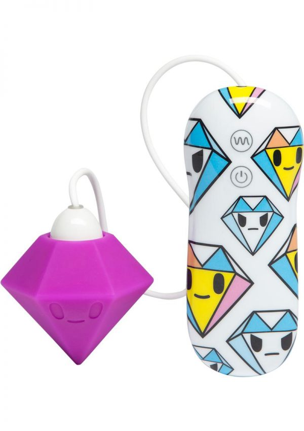 Tokidoki Solitaire Petal Vibe Wired Remote Silicone Clitoral Vibe Waterproof Purple