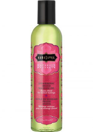 Naturals Sensual Massage Oil Strawberry Devine 8 Ounce