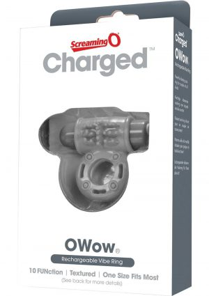 Charged OWow Rechargeable Vibe Ring Waterproof Grey