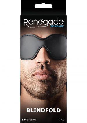 Renegade Bondage Vinyl Blindfold Black