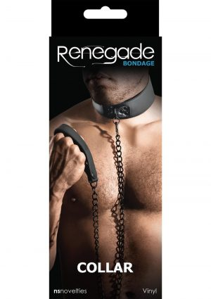 Renegade Bondage Collar Vinyl And Metal Black