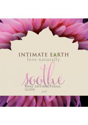 Intimate Earth Soothe Anal Antibacterial Glide Guava Bark Extract 3 Milliliter Foil Pack