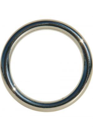 Edge Seamless O-Ring Metal Cockring Silver 1.75 Inch Diameter