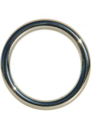 Edge Seamless O-Ring Metal Cockring Silver 2 Inch Diameter