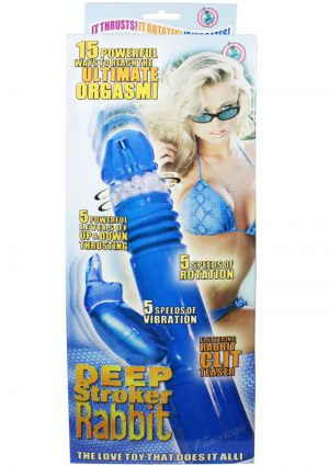Deep Stroker Rabbit Vibrator Blue