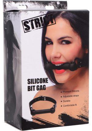 Strict Silicone Bit Gag Black