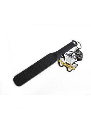 Bone Yard Spank Silicone Skull Textured Paddle Black 14.75 Inch