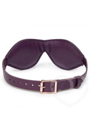 Fifty Shades Freed Cherished Collection Leather Blindfold Purple