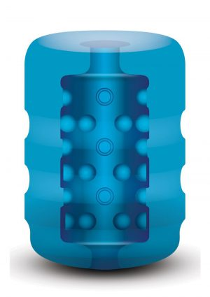 Zolo Backdoor Pocket Stroker Ribbed Texture Blue