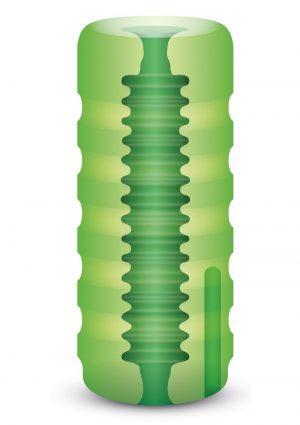 Zolo Original Stroker Squeezable Vibrating Masturbator Stroker Green